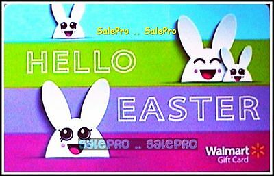 Walmart 2016 Usa Happy Easter Smiling Bunny Rabbit Collectible Gift Card