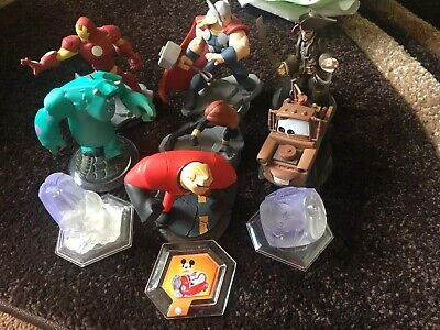 Disney Infinity Figures & Crystals Bundle Of 10 Pieces