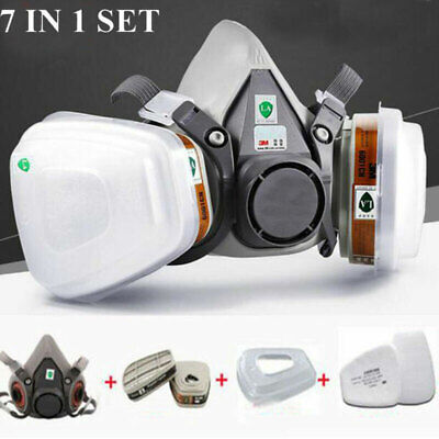 Half Face Painting Spraying Respirator Gas Mask Safety Filter Dust For 3M 6200