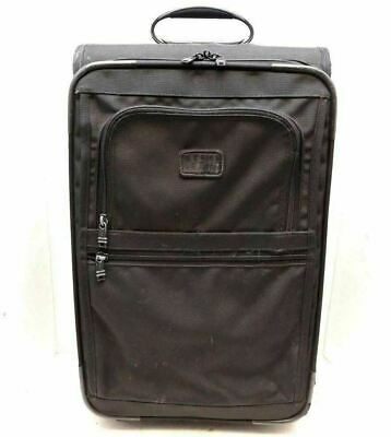 "Tumi alpha Carry on Black Wheeled rolling Bag Travel Suitcase 22"" luggage 2243D3"
