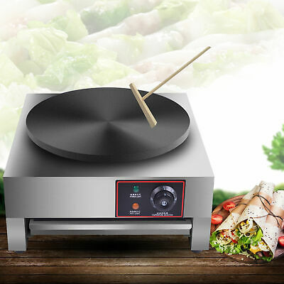 16 Inch Non-Stick Electric Pancake Maker Crepe Machine Commercial Café Snack