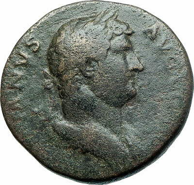 Hadrian 117AD  Big Authentic Ancient Roman Coin ROMA with VICTORY i79238
