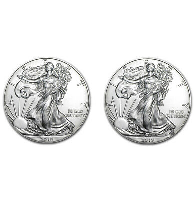 2019 1 oz American Silver Eagle $1 GEM BU (Lot of 2)