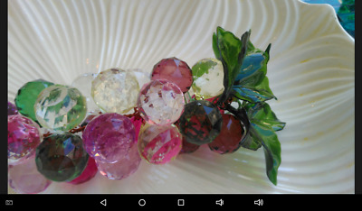 A2  CLUSTERS OF RETRO MID-CENTURY faceted  MULTI COLOR LUCITE GRAPES CLUSTER
