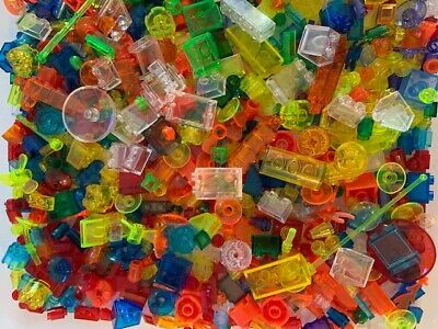 Lego 100+ Transparent Pieces From Bulk! Random Selection! Choice Of Color & Qty