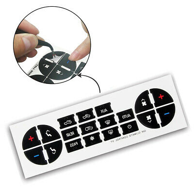 Universal AC Button Repair Parts Decal Stickers PVC Decal Sticker For GM Motors