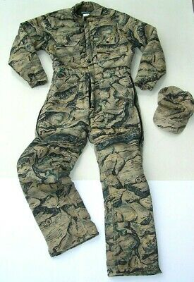13a1df863617a Gander Mountain Backland Camo Men's Small Reg 36-38 Insulated Coverall Suit  +Hat