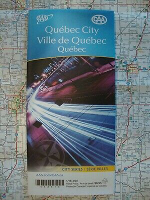 AAA CAA QUEBEC CITY CANADA CA Travel Road Map Vacation Roadmap 2018-2020