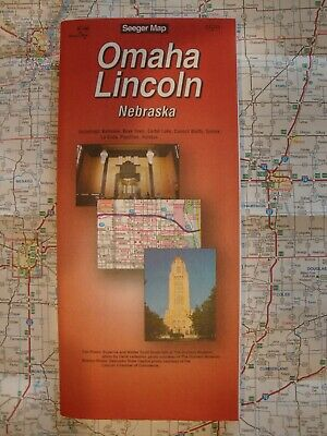 AAA OMAHA LINCOLN NEBRASKA NE Travel RoadMap Vacation ROAD MAP 2018 FREE SHIP!