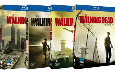 The Walking Dead Collection 1-4 (15 Blu Ray) Cajas Individuales Serie Horror