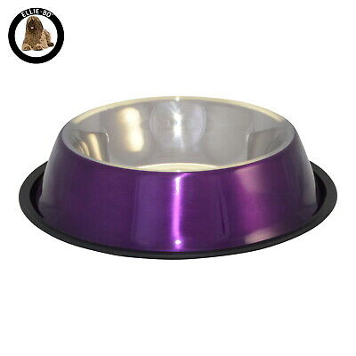 Ellie-Bo Purple Extra Large 1.47L Anti Skid Dog or Cat Feeding Food Water Bowl