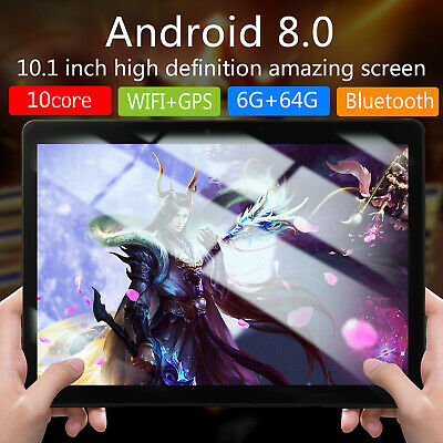 10.1 Inch HD 6G+64G Game Tablet Computer PC Ten Core Android Wifi Dual Camera