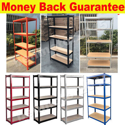 Heavy Duty Metal 5 Tier Shelving Racking Industrial Warehouse Garage Shed