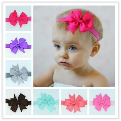 10/20Pcs Elastic Baby Kids Newborn Hair Band Girls Bow Headband Headdress