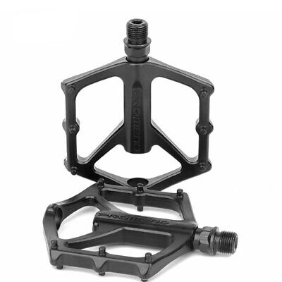 2 PCS MTB Aluminum Alloy Flat Platform Mountain Bike Pedals Bicycle Pedal Matte