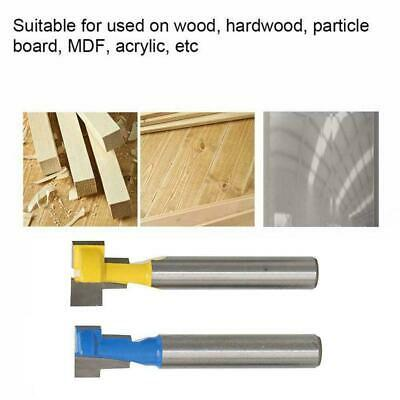 """2pcs 1/4"""" Shank Keyhole T-Slot Woodworking Cutter Router Bit For Wood 3/8""""& A9G3"""