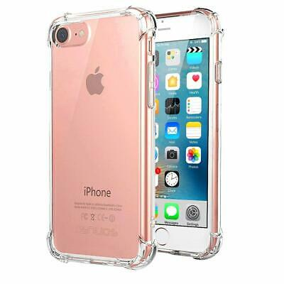 iPhone 8 & 7 Case Shock Proof Crystal Clear Soft Silicone Gel Bumper Cover Slim