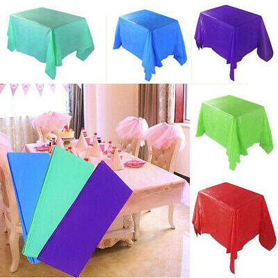 Wedding Party Tablecover Table Cover Cloth Plastic Tablecloth Birthday 15 Colour