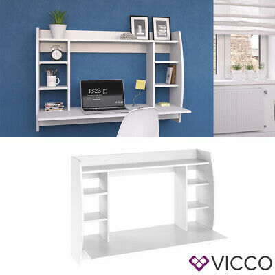 Vicco Escritorio pared Max Estante pared Mesa pared Mesa oficina PC Blanco