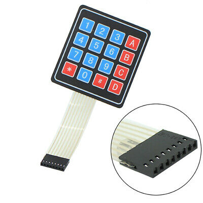 DC 12V 8 Key Matrix Membrane Switch Control Keyboard 155x75x0.8mm