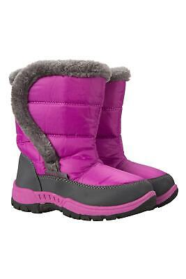 Mountain Warehouse Girls Snow Boots Water-Resistant with Sherpa Fleece Lining