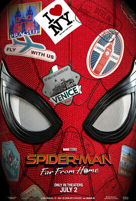 Spiderman Far From Home 2019 Movie Art Print Poster A3 V2