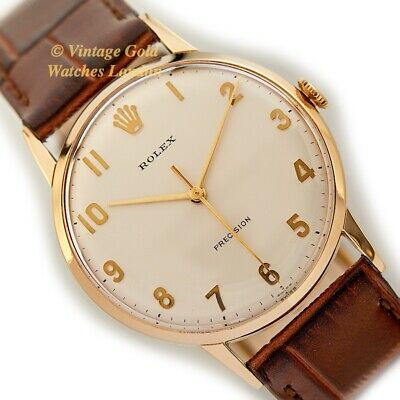 Rolex Precision, 9Ct, 33Mm, 1970 - With Solid Gold Numerals - Immaculate!