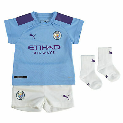 Puma Official Kids Manchester City FC Home Baby Football Kit Set 2019-20