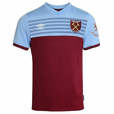 Umbro Official Kids West Ham United FC Home Football Shirt Jersey Top 2019-20