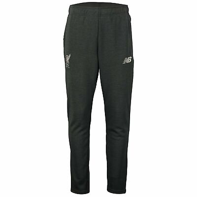 New Balance Official Mens Liverpool FC Travel Football Pants Trousers Dark Grey