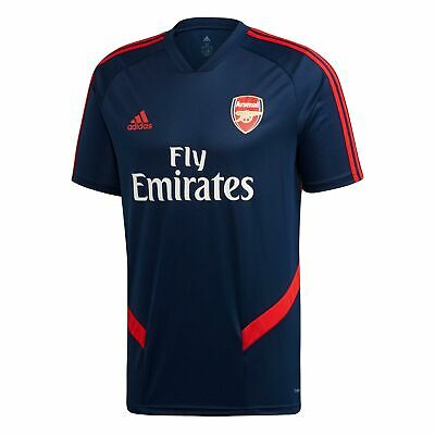 adidas Official Mens Arsenal FC Football Training Shirt Jersey Top Navy Blue