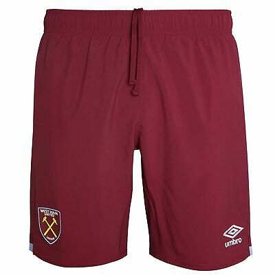 Umbro Official Mens West Ham United FC Home Football Shorts Bottoms 2019-20