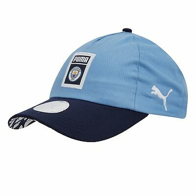 Puma Official Unisex Manchester City FC DNA FAN Football Cap Hat Light Blue