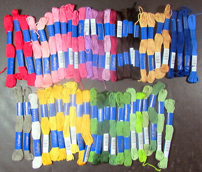 50x Needlepoint/Embroidery THREAD Craftways Cotton Floss-Mixed Lot-AX123