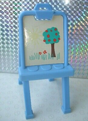 Barbie Shelly Kelly Doll Accessories - Play Pretend Blue Painting Easel Stand