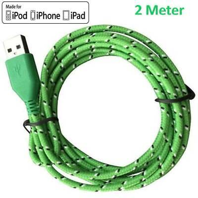 Long Braided USB Charger Data Charging Cable Lead For iPhone 6s 7 8 6 5s SE X