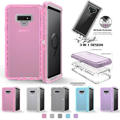 Clear Defender Case For Samsung Galaxy Note10 9 8 S9 S8Plus S7 Transparent Cover