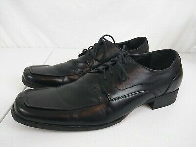 56ccf5ddc9f STEVE MADDEN SIZE 10.5 M EVOLLVE Black Leather Lace Up Oxfords Mens ...