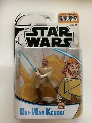 Hasbro Star Wars Clone Wars Cartoon Network OBI-WAN KENOBI Action Figure 2003