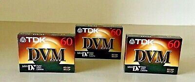TDK DVM Camcorder DV MiniDV Digital Video Blank Cassette 60 min NEW SEALED X 3