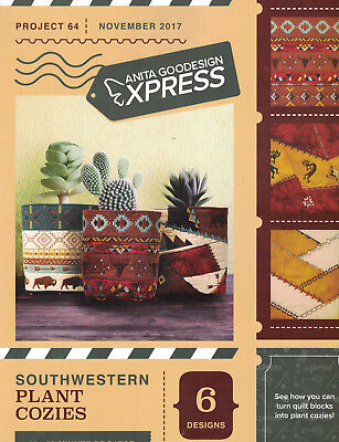 Anita Goodesign Express Southwestern Plant Cozies Project 64 CD and booklet