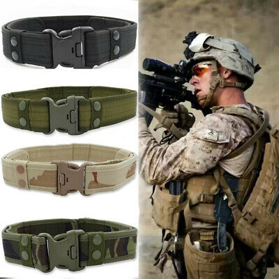 Men's Military Tactical Belt Army Combat Canvas Waistband Rescue Rigger Belts