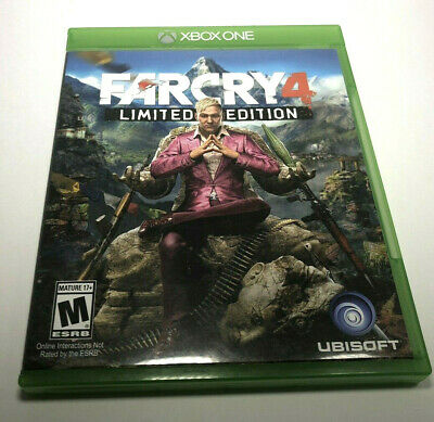 Far Cry 4 Limited Edition Microsoft Xbox One 2014 Ubisoft Shooter Game Good cond