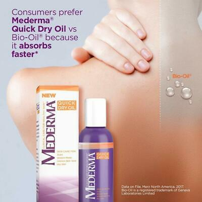 Mederma Quick Dry Oil 100ML - Skin Care For Scars, Stretch Marks, Tone, Dryness