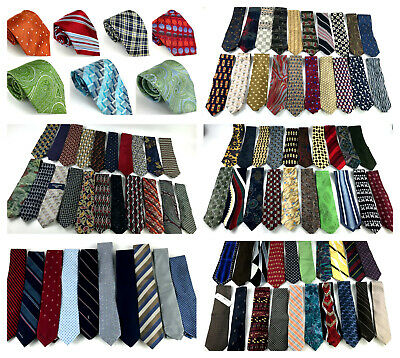 Lot of 100 Designer Ties Neckties Yves Saint Laurent Oscar De La Renta and More