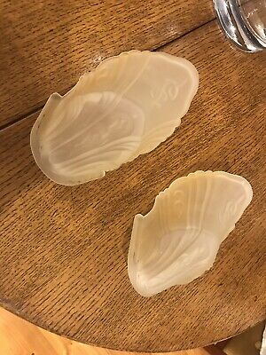 Two (2) Vintage Art Deco Glass Shades