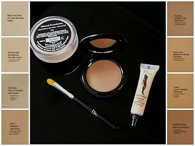 Thin Lizzy Value Set! Bronzer, Mineral Foundation + x2 free concealers & brush!