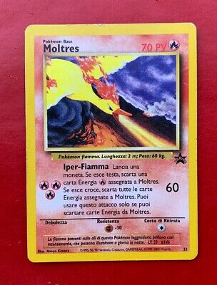 Lotto Carte Pokemon MOLTRES - PROMO 21 - BLACK STAR - ITA -