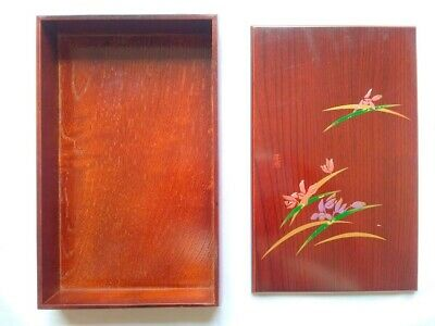 Japanese Wooden Lacquerware Box Case Used Vintage Lacquer ware