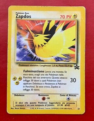 Lotto Carte Pokemon Zapdos 23 Promo Black Star